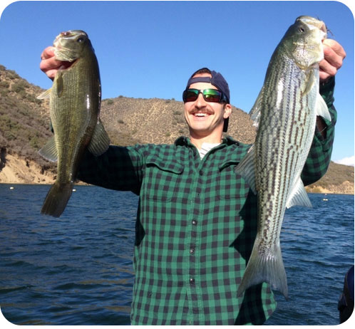 Pyramid lake rich tauber fishing southern california for Lake piru fishing report