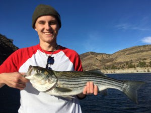 Pyramid Lake Striped Bass Fishing Guide Report 12/08/2016