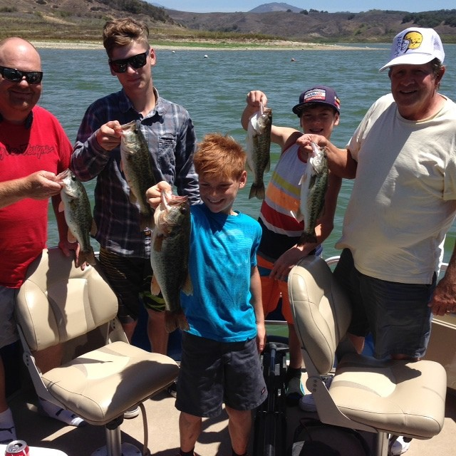 Rich tauber 39 s bass fishing guide service for Castaic lake fishing